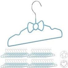 40 x Kinderkleiderbügel Schleife Drahtbügel
