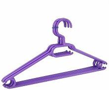 40 x Kleiderbügel drehbar Set Wäschebügel Kinderschrank Bügel Kunststoff Drehbügel (violett)