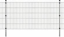 400 cm x 150 cm Gartenzaun Robbin aus Metall