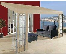 400 cm x 300 cm Anbaupavillon aus Stahl