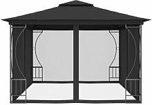 400 cm x 300 cm Pavillon Armelle aus Stahl