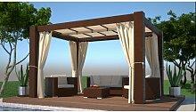 400 cm x 300 cm Pavillon Guglielmo aus Aluminium