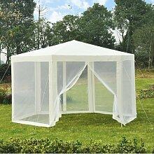 400 cm x 350 cm Pop-Up-Pavillon aus Metall