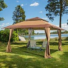 400 cm x 400 cm Pop-up-Pavillon Torkom aus Stahl