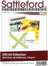 400 Etiketten A6 105x148 mm für Laser/Inkjet