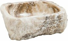 400 mm Waschbecken Brendon aus Stein