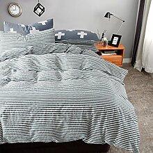 400 thread-zählung 100% baumwoll-bett-set smooth soft king queen bettwäsche decke weiß grau gorgeous garten stil -E Queen2