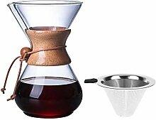 400ML Kaffeemaschine Tasse, Glas Handkaffeekanne