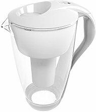 4020 Glas-Wasserfilter Karaffe (weiß) inkl. 1 Classic Filterkartusche (kompatibel mit Brita® Classic) + LED Anzeige