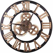 40cm 3D Zahnrad Design-römische Ziffer Wanduhr