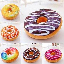 40cm Bunte kreative 3D PlŸsch-Donut Dekokissen Sofa Auto-BŸro Kissen Valentines Geschenk