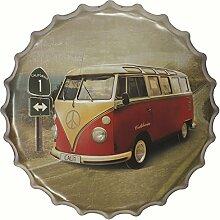 40cm Weinlesezinnzeichen Zeichen Flaschendeckel Plakette Wandkunst Café-Bar Plakat # Metall 48 - 08, XL