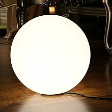 40cm Weiße LED Stehlampe Kugel Modern Design - Netzbetriebene Kugelleuchte Stehleuchte für Wohnzimmer, Deko von PK Green