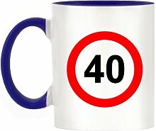 40mph Design Zweifarbige Becher mit Henkel &-dunkelblau