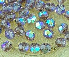 40pcs Crystal Light Amethyst Violett Klar Ab Halb