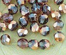 40pcs Crystal Light Amethyst Violett Klar Metallic
