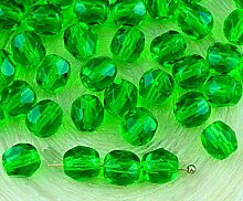 40pcs Crystal Light Chrysolite Grün Klar Rund