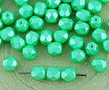 40pcs Pastell Pearl Light Chrysolite Grün Rund