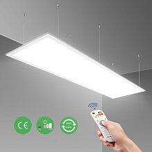 40W LED Panel 120x30cm Deckenleuchte, Dimmbar und