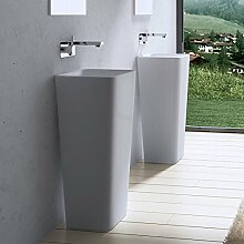 40x35x82 cm Design Standwaschbecken Colossum31, aus Gussmarmor, Waschtisch, Waschplatz, Stand, Säule,
