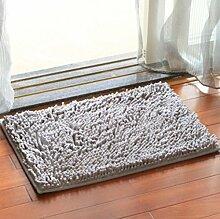 40x60cm Chenille Couchtisch Sofa Badezimmer Türmatten , gray