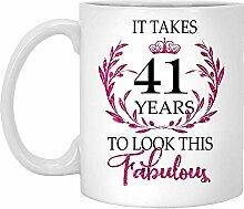 41. Geburtstagsgeschenk Für Frauen-Es Dauert 41
