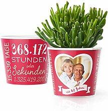 42. Hochzeitstag Geschenk – Blumentopf (ø16cm)