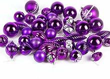 42Stück Elegante sortiert Weihnachtsbaum bagattelle Dekoration Set (violett)