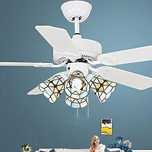 42 Zoll Deckenventilator-Lichter Einfacher angetriebener Ventilator beleuchtet Gaststätte-Leuchter-moderne Ventilator-Lichter Laternen-Leuchter-Schlafzimmer-Ventilator-Blätter, die auf beiden Seiten verfügbar sind Motor-Qualitätssicherung Deckenventilatoren mit Beleuchtung