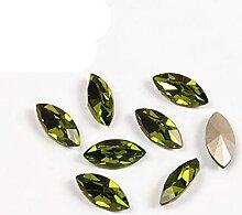 4200 Olivine Fancy Crystals Horse Eye Strasssteine