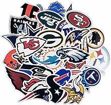 43 Stück Fußball-NFL-Team-Aufkleber, kreative