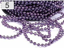 43m 5 Lila Perlenkette Deko Ø4mm, Perlenschnüre