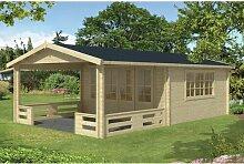 440 cm x 730 cm Gartenhaus Kelton Garten Living