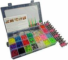 4400DIY Set gemischt Farbe Regenbogen Gummi Loom