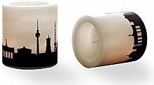 44spaces 2 Kerzen Berlin Skyline Pflaume,