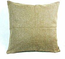 45,7cm Leinen Baumwolle Home Dekoration Überwurf Kissenbezug, taupe, 45,7 x 45,7 cm