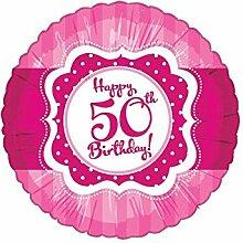 45,7cm Perfectly Pink 50. Geburtstag Folienballon