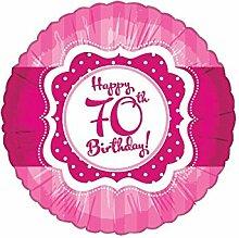 45,7cm Perfectly Pink 70. Geburtstag Folienballon