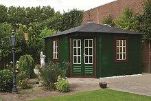 45 mm Gartenhaus Lotte ca. 400x400 cm (unbehandelt)