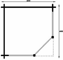 45 mm Gartenhaus Marit ca. 400x400 cm (unbehandelt)