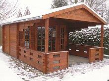 45 mm Gartenhaus Sanstrov ca. 380x590 cm