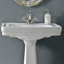 45 mm Oval Waschbecken aus Keramik, Wandmontage