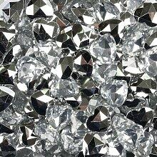 45 Stück Spiegel Diamanten Herzen Ø 16 mm,