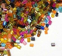 450g 2mm Zylinder Glas Rocailles Roccailles PERLEN