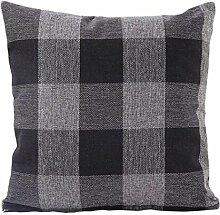 45cm*45cm Kissenbezug,Kingko® Lattice Muster Kissenbezug Home Sofa Bed Decor Kissenbezug, Zwei Seiten bedruckt (Grau)