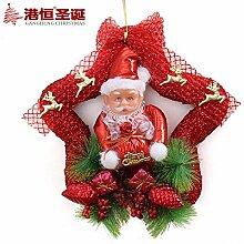 45cm Christbaumschmuck Weihnachten window-dressing Türverkleidung Kleiderbügel