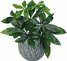 45cm Künstliche Geld-Baum Pflanze - Topf in schwarzem Kunststoff-Topf