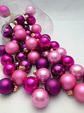 45tlg Kugeln Pink Rosa Lila Weihnachtsschmuck Weihnachsdeko Hänger Weihnachten Dekoration Adven