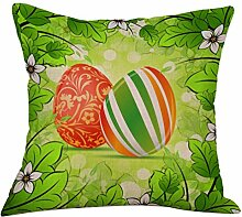 45X45cm Kissenbezug Kingko® Ostern Maskottchen Muster Sofa Bett Home Decoration Festival Kissenbezug Kissenbezug (A)