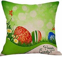 45X45cm Kissenbezug Kingko® Ostern Maskottchen Muster Sofa Bett Home Decoration Festival Kissenbezug Kissenbezug (B)